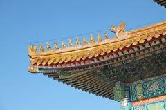 China. Beijijng. Chinese yellow temple roof Summer palace. Chinese yellow temple roof Summer palace, Beijing, China stock image