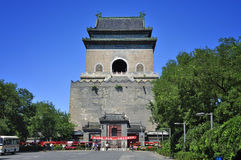 China Beijing central axis-Drum Tower Royalty Free Stock Photography
