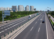 China Beijing City Road and  Highway Stock Photography