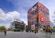 China Beijing Commercial Street—Sanlitun Village Stock Image
