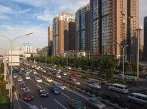 China Beijing Downtown Sunset glow Stock Photo
