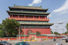 China, Beijing. Drum Tower  - the oldest building in Beijing, 1420 Royalty Free Stock Photos