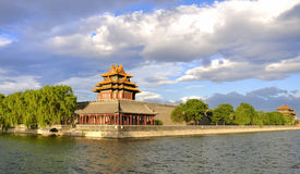 China Beijing Forbidden City and cloud. Lying at the center of Beijing, the Forbidden City, called Gu Gong, in Chinese, was the imperial palace during the Ming royalty free stock photo