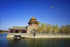China Beijing Forbidden City Gate Tower Stock Photo