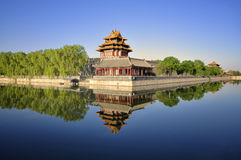 China Beijing Forbidden City Gate Tower Stock Image