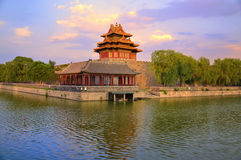 China Beijing Forbidden City Gate Tower. Lying at the center of Beijing, the Forbidden City, called Gu Gong, in Chinese, was the imperial palace during the Ming royalty free stock image