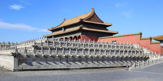 China Beijing Forbidden City Gate Tower Stock Photo