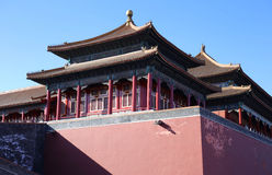 China Beijing Forbidden City Gate Tower Stock Photography