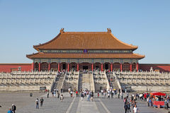 China. Beijing. Forbidden City. The Hall of Supreme Harmony Royalty Free Stock Photos