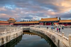China, Beijing, the forbidden city stock image
