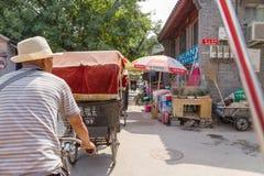 China, Beijing. Ride on pedicab - 5 Stock Image