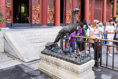 China, Beijing. Sculpture in the Summer Palace Stock Images