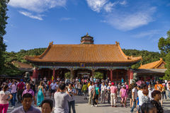 China, Beijing. Summer Imperial Palace (Yihe Yuan).  Gate of Dispelling Clouds (Paiyunmen) Royalty Free Stock Photos