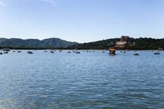 China, Beijing. Summer Palace. View of Kunming Lake and Longevity hill Royalty Free Stock Photos
