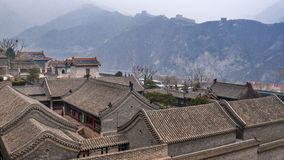China, Beijing. Temple at the entrance to the fortress . Stock Photo