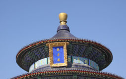 China. Beijing. The Temple of Heaven. Roof Royalty Free Stock Images