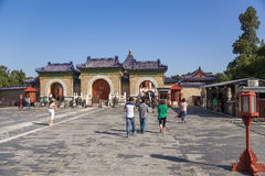 China, Beijing. Temple of Heaven (Tiantan), Three-arch gate Royalty Free Stock Photography