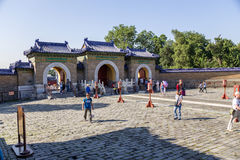 China, Beijing. Temple of Heaven (Tiantan). Three-arch gates Stock Photography