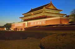 China  Beijing Tiananmen night scenes  Royalty Free Stock Photography