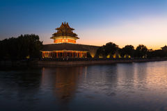 China Beijing, turret in the evening Royalty Free Stock Images