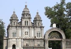 China Beijing Wangfujing church Stock Photos