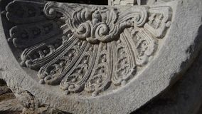 China beijing yuanmingyuan history legacy wreckage,Broken stones carving pattern. stock video footage