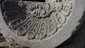 China beijing yuanmingyuan history legacy wreckage,Broken stones carving pattern. stock video footage
