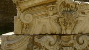 China beijing yuanmingyuan,history legacy wreckage,royal garden pillars. Gh2_05471 stock footage