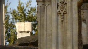 China beijing yuanmingyuan,history legacy wreckage,royal garden pillars. Gh2_05478 stock video
