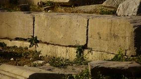 China beijing yuanmingyuan,history legacy wreckage,royal garden pillars. Gh2_05497 stock video