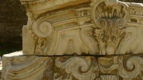China beijing yuanmingyuan,history legacy wreckage,royal garden pillars. stock footage