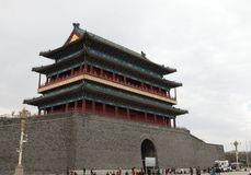 China Beijing Zhengyang gate Royalty Free Stock Photo