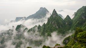 China-Berg bei Zhang Jie Jia Stockbild