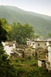 China, Berge und Dörfer Stockfoto