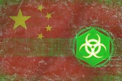 China biohazard threat. Virus threat concept. Royalty Free Stock Photos
