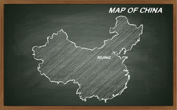 China on blackboard Royalty Free Stock Image