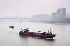 China: Boat on the Yangze river Royalty Free Stock Images