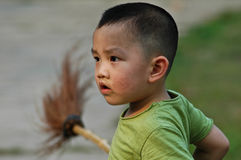 China boy. Staring at the boys in China Stock Photo