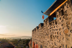 China building. In the morning with sunrise landscape Stock Image
