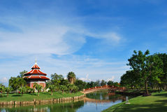 The china building in the park. At thailand Royalty Free Stock Images