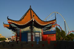China building in Port Aventura. Building in the Chaina area in Port Aventura Royalty Free Stock Photo