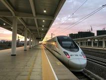 China bullet train stock photo
