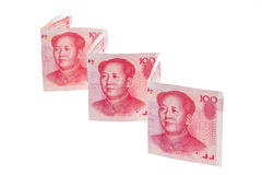 China Business yuan. Royalty Free Stock Photography