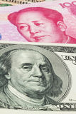 China Business yuan and the dollar Royalty Free Stock Image