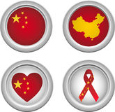 China Buttons Royalty Free Stock Photos