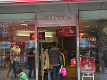 China: Calvin Klein Jeans imagem de stock royalty free