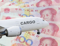 China cargo airplane Royalty Free Stock Image