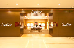 China: Cartier store. CHONGQING, CHINA - JAN 22: Cartier store in Chongqing on Jan 22, 2011. Cartier is accelerating boutique openings in the Mideast and the U.S royalty free stock image