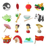 China cartoon icons Royalty Free Stock Images