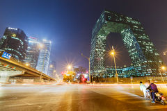 China Central Television (CCTV) Headquarters,in Beijing Stock Photos